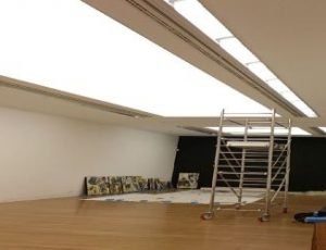 DIY stretch ceiling canvas fabric membrane allow sound